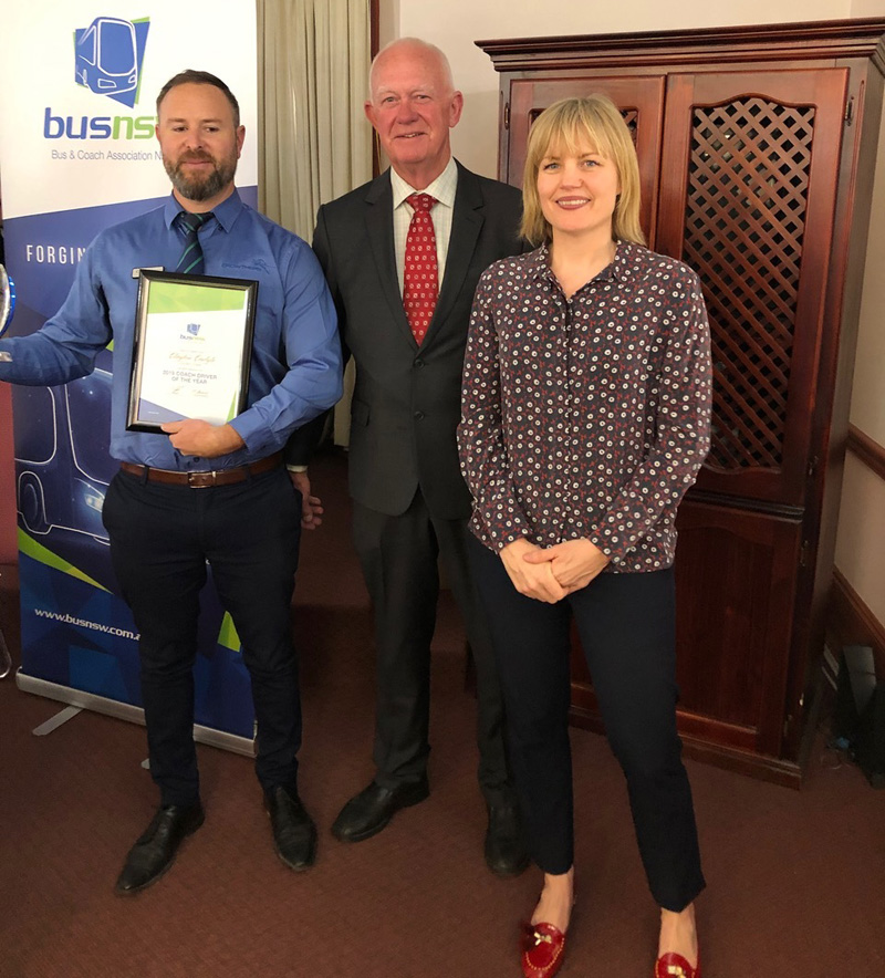 Bus NSW wins coach driver of the year